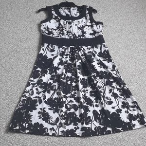 Charter Club Black Sleeveless  Floral Dress